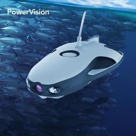 PowerRay小海鳐水下无人机,4K拍摄,VR智能机器人,声呐垂钓
