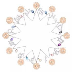 奥地利 施华洛世奇十二星座项链 锁骨项链七夕礼物