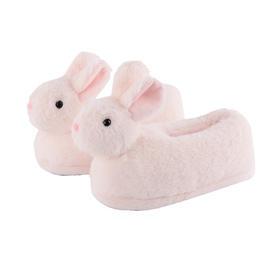 长毛兔女式家居拖鞋 萌趣长绒毛 温暖一整冬