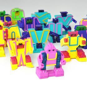 菠萝树5D智慧字母变形字母金刚玩具ABC26个金钢机器人无磁