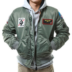 VF-41黑皇牌中队主题飞行夹克