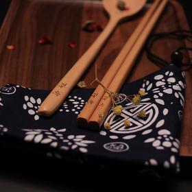 知食日式木质筷勺套装