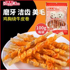 道格思 鸡肉绕牛皮卷(100克)