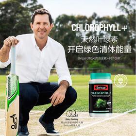 Swisse天然植物精华萃取叶绿素片 100片 澳洲进口 有助清体排毒 保税区发货