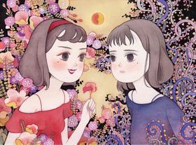 【艺术家儿力力亲笔签名限量版画】双面女