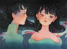 【艺术家儿力力亲笔限量版画】呼吸