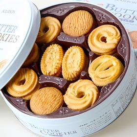 """日本""""糕点老字号"""" BOURBON 铁盒曲奇 巧克力/黄油 口味"""
