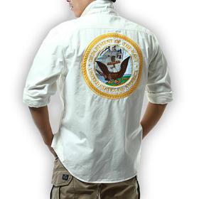 【型男时尚 加厚抗磨】美国海军主题衬衫