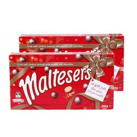超值两盒装!澳洲玛氏Maltesers麦提莎麦粒素 (360g/盒*2)麦丽素巧克力礼盒装
