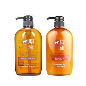 【COSME大赏推荐】日本KUMANO熊野油脂洗发护发600ML套装