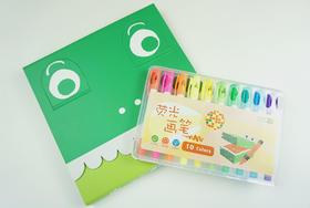 走,我们去画世界!Touchbox小创客手指画+10色荧光笔(套装)
