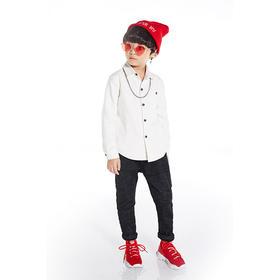 红色腰带加绒长裤