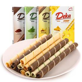 印尼进口 Deka/德卡 威化夹心卷注心饼干(4个口味)