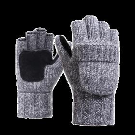 【半指翻盖】羊毛加绒手套