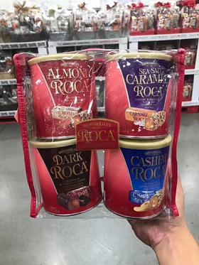 美国直邮 Almond roca乐家杏仁糖腰果咖啡巧克力糖四罐装1.11kg
