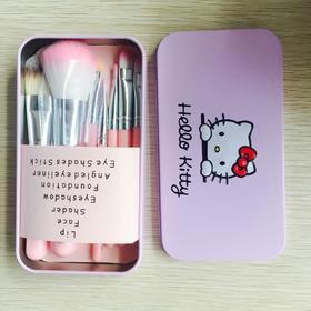 hello kitty化妆刷套装 7支铁盒彩妆工具