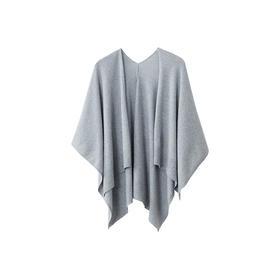 ARMANI制造商 纯色羊绒混纺针织披肩 优质白羊绒 严选生活 网易严选