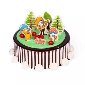 熊出没  孩子喜爱的蛋糕(下单1小时送达)