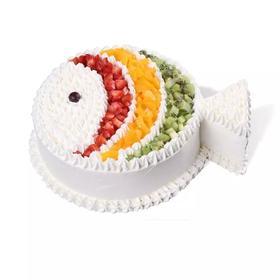水果鱼   水果与稀奶油制作(下单1小时送达)