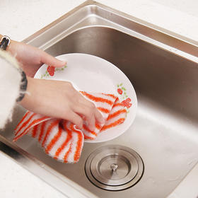【49选5】【厨房清洁小能手】日本进口厨房竹炭纤维不沾油抹布(5个为一组)(23*18cm)    双层加厚  吸水不掉毛