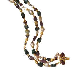 红宝石翡翠石珍珠博物馆款项链
