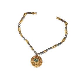巴洛克黑珍珠海蓝宝博物馆款项链