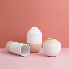 Pure 白橘拼色花瓶