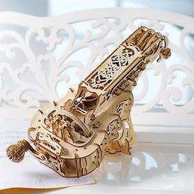 手摇风琴、机器人工厂、珠宝盒,乌克兰木质DIY模型上新三款