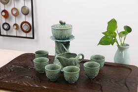 出水芙蓉半自动青瓷茶具(2种颜色)