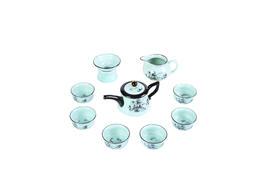 青瓷手绘功夫茶具套装(长嘴壶款)