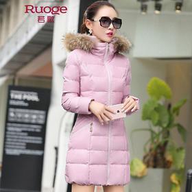 时尚优雅中长款保暖修身棉衣 WAY9812