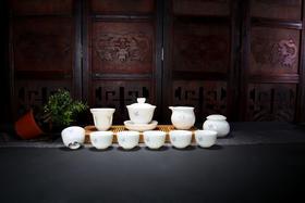 德化白瓷茶具套装 手绘荷花(15种款式)