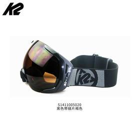 美国进口K2双层防雾大球面镜片大视野防风亚洲款男女滑雪眼镜雪镜
