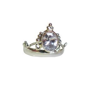 奥地利白水晶皇冠925银镀金