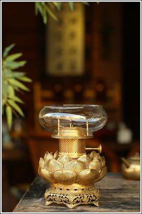 酥油铜灯【万寿】【莲花】