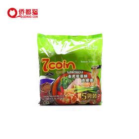 【泰国】七咔呢泰式泡菜风味方便面 5袋装 350g