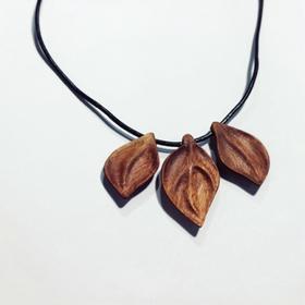 木艺课-厦门站-手工秋叶挂饰吊坠项链