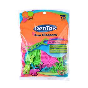 美国进口 Dentek德泰克儿童专用牙线棒75支