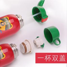 韩国杯具熊正品儿童保温杯带吸管两用宝宝不锈钢水杯