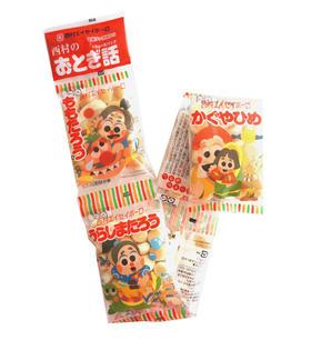 日本进口 西村 5连包小粒糕点 童话小馒头75g 奶豆磨牙宝宝 8816