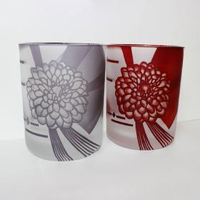 【祝言夫妇酒杯】限量手工雕花玻璃酒杯 红紫 Lotus Miyavi