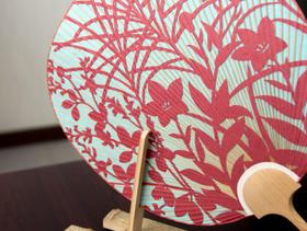 京团扇工房见学&切绘团扇制作体验