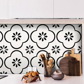 北欧黑白花砖 300x300