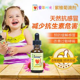 美国童年时光CHILDLIFE紫锥菊滴剂 紫雏菊进口婴儿童三驾马车三架