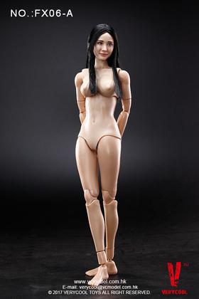VERYCOOL 新品:1/6 亚洲女星头雕 + VC 3.0 半包胶女素体套装 (A & B款)