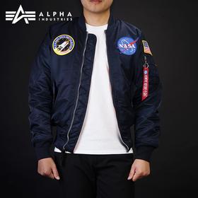 阿尔法 ALPHA MA-1 太空总署NASA飞行员夹克男女MA1秋冬保暖棉服