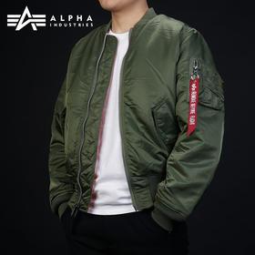 ALPHA阿尔法MA-1飞行员夹克男厚款空军防寒外套MA1潮流男冬棉服