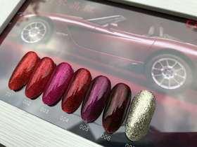 卡绮密梦幻水晶红6+1色套装   15ml/瓶 赠送展板