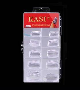 KaSi 无痕透明加厚全贴甲片100片盒装