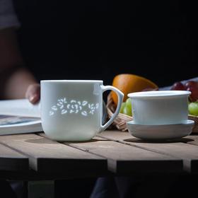 富玉 白玲珑茶漏杯